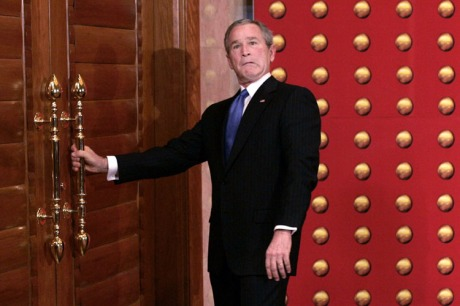 President George W. Bush can't believe it EITHER
