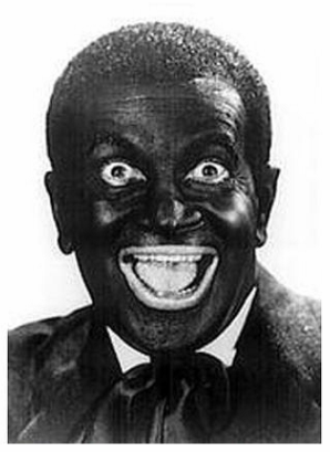 TFP hates this photo with a passion, but it is Al Jolson, who was famous for his Blackface performances, apologies