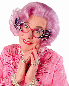 Dame Edna - perhaps the most Internationally famous man in a dress