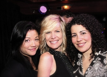 With Debby Boone & Julie Garnye @ Jim Caruso's Cast Party
