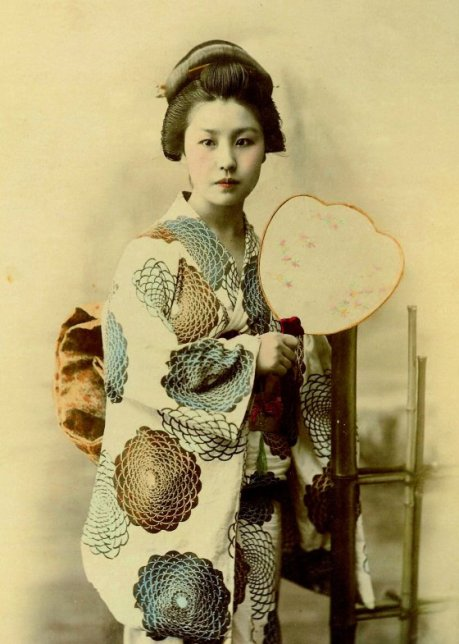 Vintage Photo of a Japanese Woman, circa 1880