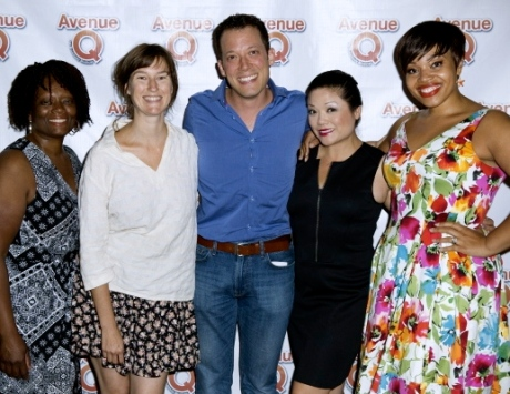 SM Beverly Jenkins, our Original Mistress of the Puppets - Singer/Songwriter Phoebe Kreutz, John Tartaglia, Erin Quill, and Carmen Ruby Floyd - all part of the Original Broadway Company
