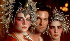 See, Ms. Stone - that could be you - all the way on the right! BIG TROUBLE IN LITTLE CHINA, Kurt Russell (center), Kim Cattrall (left), 1986, TM and Copyright (c)20th Century Fox Film Corp. All rights reserved.