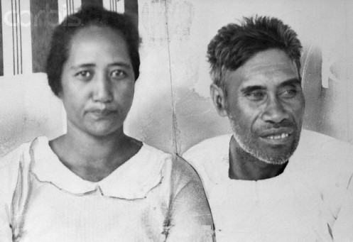 Portrait of Benny and Ella Kanahele