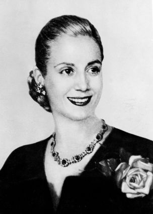 Picture taken in the 1940s in Buenos Aires of Eva Peron (1919-52)