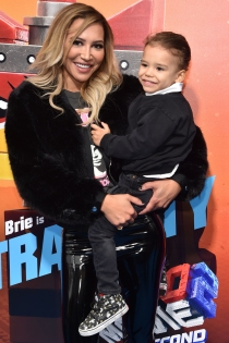 "US actress Naya Rivera and son Josey Hollis Dorsey arrive for the premiere of ""The Lego Movie 2: The Second Part"" at the Regency Village theatre on February 2, 2019 in Westwood, California. (Photo by Chris Delmas / AFP) (Photo credit should read CHRIS DELMAS/AFP via Getty Images)"
